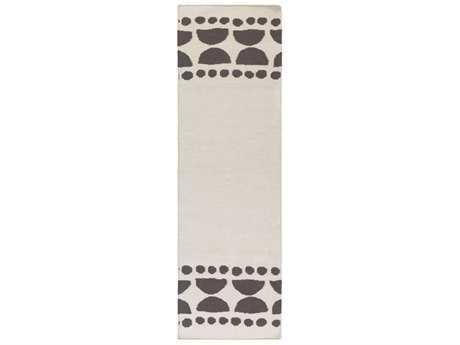Surya Textila 2'6'' x 8' Rectangular Lilac & Ivory Runner Rug