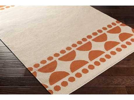 Surya Textila Rectangular Terracotta & Ivory Area Rug