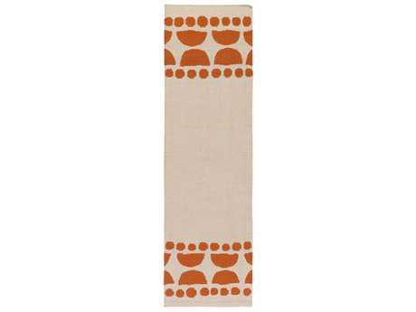 Surya Textila 2'6'' x 8' Rectangular Terracotta & Ivory Runner Rug