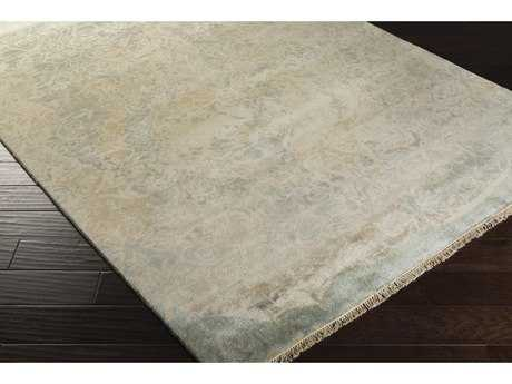 Surya Uncharted Rectangular Medium Gray, Ivory & Light Gray Area Rug