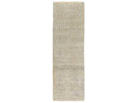 Surya Uncharted Rectangular Medium Gray, Ivory & Light Gray Runner Rug