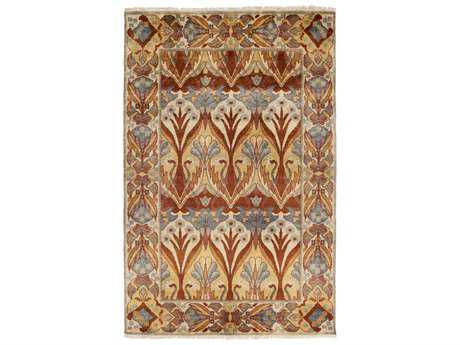 Surya Uncharted Rectangular Rust Area Rug
