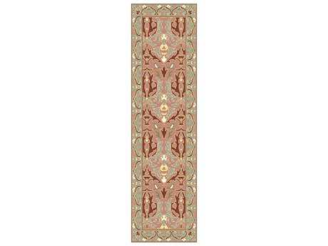 Surya Uncharted 2'6'' x 8' Rectangular Rust Runner Rug