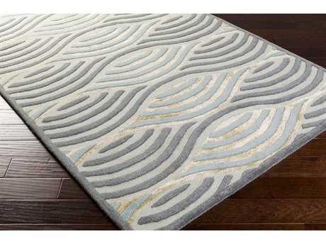 Surya Universal Rectangular Denim, Sea Foam & Aqua Area Rug
