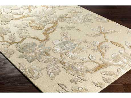 Surya Verdant Rectangular Cream, Sage & Tan Area Rug