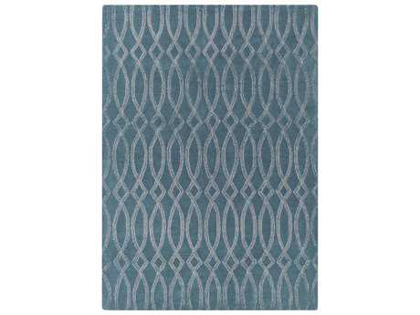 Surya Vega Rectangular Teal Area Rug