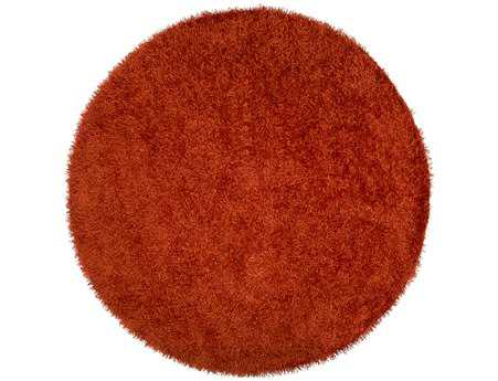 Surya Vivid Round Orange Area Rug
