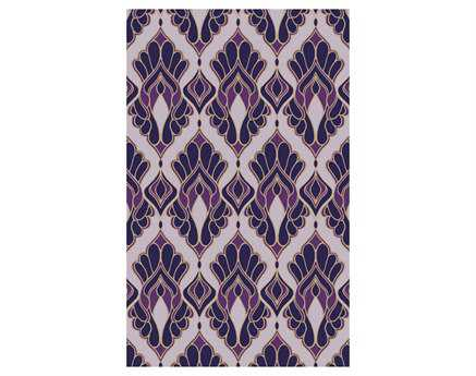 Surya Voyages Rectangular Purple Area Rug