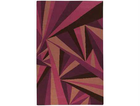 Surya Voyages Rectangular Pink Area Rug