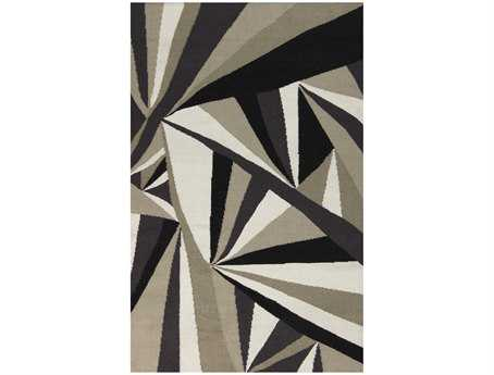 Surya Voyages Rectangular Gray Area Rug