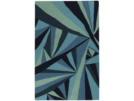 Surya Voyages Rectangular Blue Area Rug