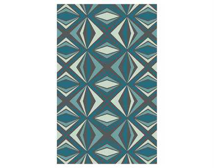 Surya Voyages Rectangular Teal Area Rug