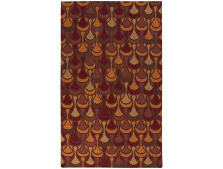 Surya Voyages Rectangular Orange Area Rug