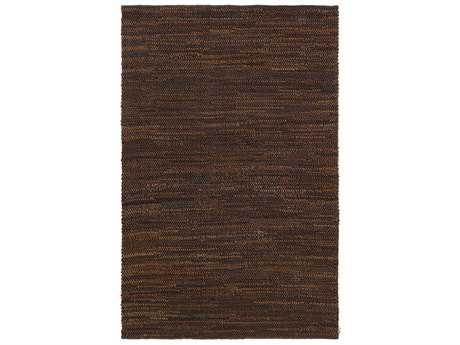 Surya Vista Rectangular Camel & Dark Brown Area Rug