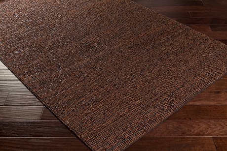 Surya Vista Rectangular Dark Brown & Black Area Rug