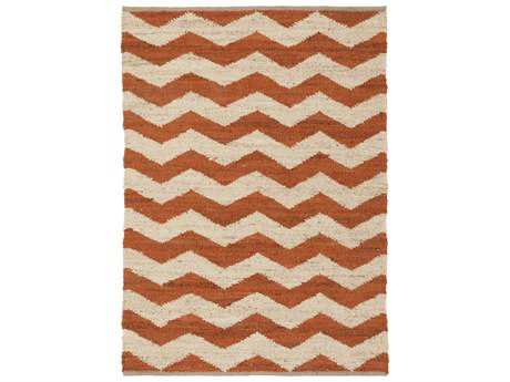 Surya Wade Rectangular Rust Area Rug