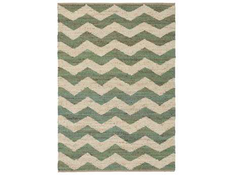 Surya Wade Rectangular Kelly Green Area Rug