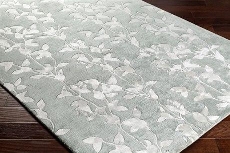 Surya Waldorf Rectangular White & Sage Area Rug