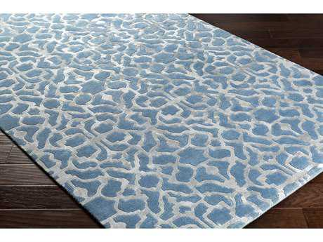 Surya Waldorf Rectangular Bright Blue & Light Gray Area Rug