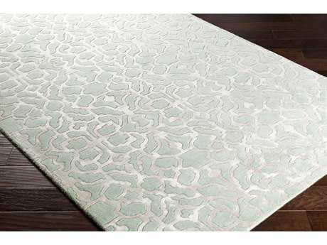 Surya Waldorf Rectangular Mint & Light Gray Area Rug