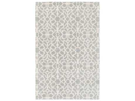 Surya Waldorf Rectangular Medium Gray & Cream Area Rug