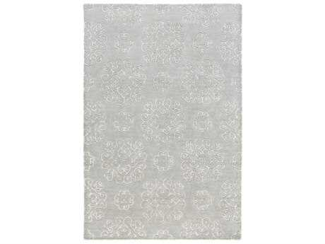 Surya Waldorf Rectangular Sea Foam & Light Gray Area Rug