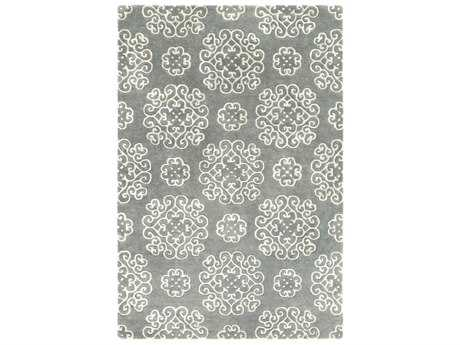 Surya Waldorf Rectangular Dark Green & Light Gray Area Rug