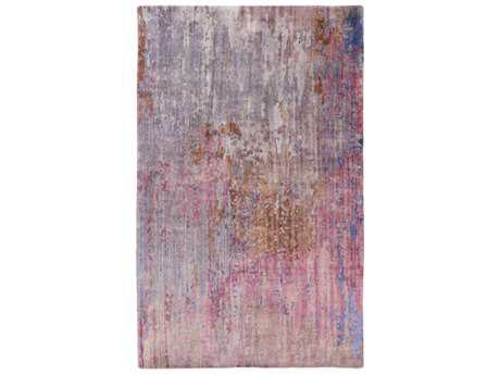 Surya Watercolor Rectangular Dark Purple, Medium Gray & Mauve Area Rug