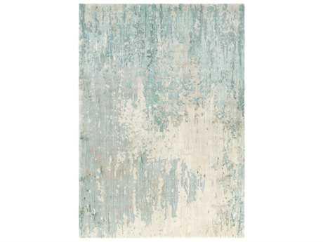 Surya Watercolor Rectangular Teal, Sage & Light Gray Area Rug