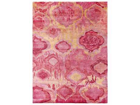 Surya Watercolor Rectangular Bright Purple, Bright Pink & Garnet Area Rug