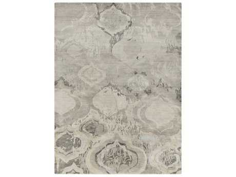 Surya Watercolor Rectangular Charcoal, Light Gray & Khaki Area Rug