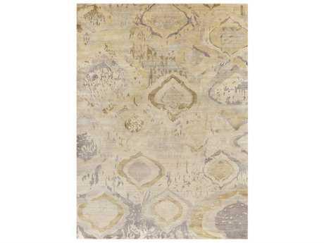 Surya Watercolor Rectangular Butter, Khaki & Light Gray Area Rug