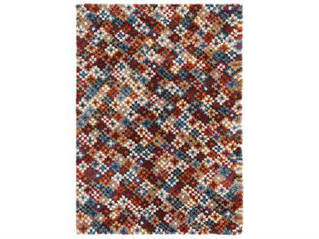 Surya Wilder Rectangular Mustard, Bright Red & Bright Blue Area Rug