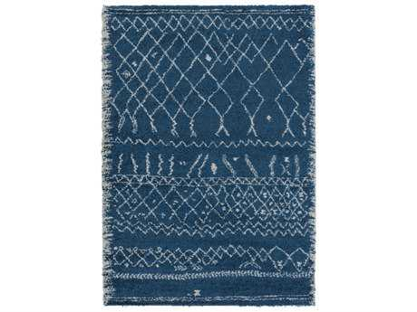 Surya Wilder Rectangular Sky Blue & White Area Rug