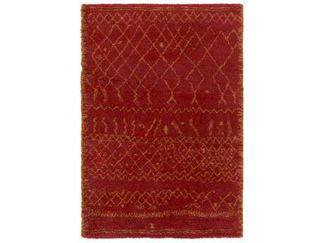 Surya Wilder Rectangular Bright Pink & Wheat Area Rug