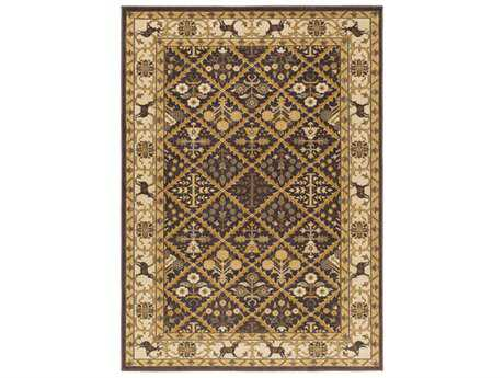 Surya Willow Lodge Rectangular Dark Brown, Khaki & Tan Area Rug
