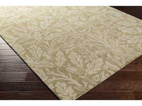 Surya William Morris Rectangular Olive & Khaki Area Rug