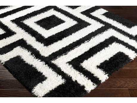 Surya Winfield Rectangular Black & White Area Rug