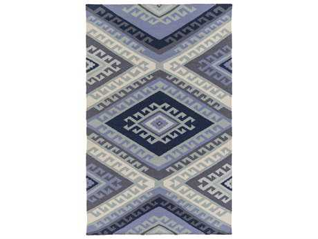 Surya Wanderer Rectangular Navy Area Rug