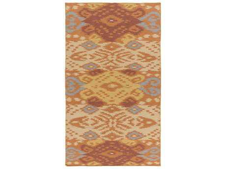Surya Wanderer Rectangular Rust Area Rug