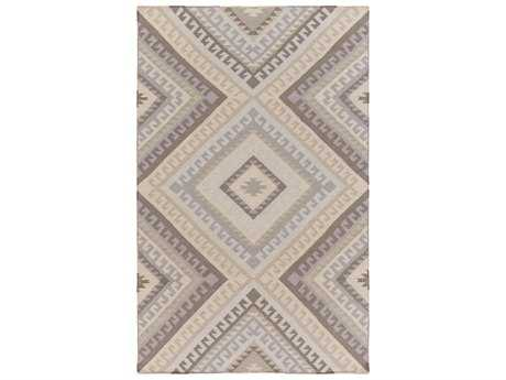 Surya Wanderer Rectangular Light Gray Area Rug
