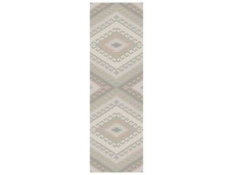 Surya Wanderer 2'6'' x 8' Rectangular Light Gray Runner Rug