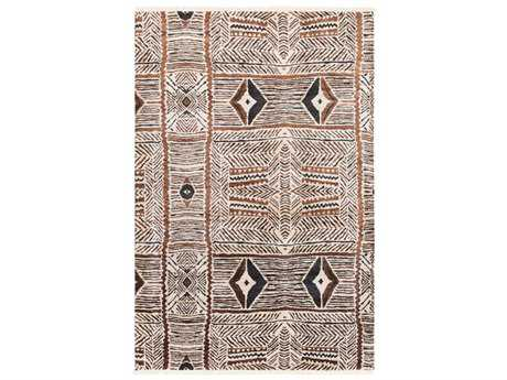 Surya Zambia Rectangular Cream, Dark Brown & Black Area Rug