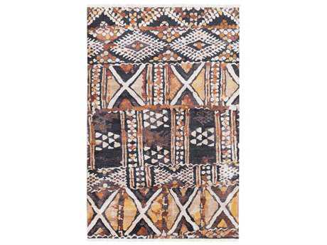 Surya Zambia Rectangular Khaki, Camel & Saffron Area Rug
