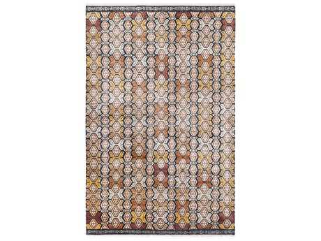 Surya Zambia Rectangular Cream, Dark Brown & Mustard Area Rug