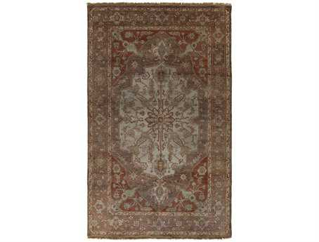 Surya Zeus Rectangular Orange Area Rug