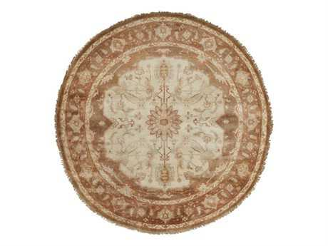 Surya Zeus 8' Round Orange Area Rug