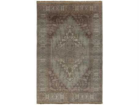 Surya Zeus Rectangular Gray Area Rug