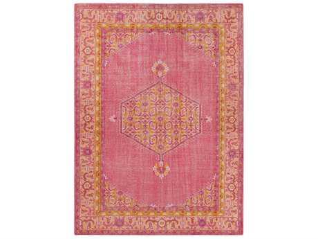 Surya Zahra Rectangular Bright Pink, Coral & Saffron Area Rug