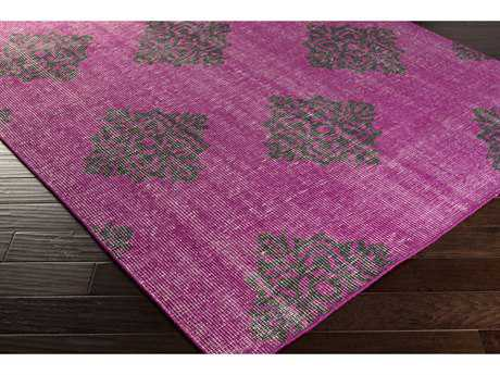 Surya Zahra Rectangular Bright Purple & Black Area Rug